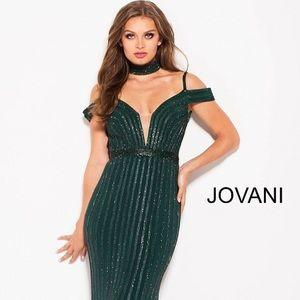 jovani Dresses - Jovani 56004 in GUNMETAL. NOT GREEN. Size 10